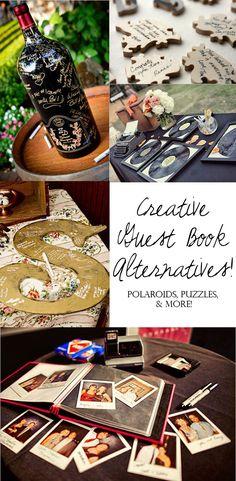 creative wedding guest book alternatives