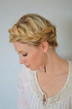 DIY Wedding Hair : DIY The Boho Crown Braid