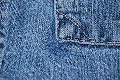 I'm Frugal: Mending Holes in Blue Jeans