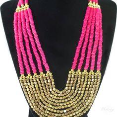 Golden Malla Necklace   www.desideratadecor.com