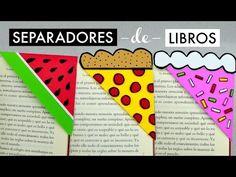 Separadores de Libros (Sandía, Pizza y Pastel) │Espacio Creativo - YouTube