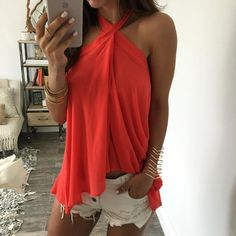 Odessa Wrap Skirt - Coral
