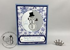 Mystery Hostess, Spinner Card, Stampin Pretty, Snowman Cards, Starbucks Gift Card, Hand Stamped Cards, Gift Bows, Queen B, Winter Cards