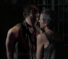 Daryl Carol (Caryl) - The Walking Dead Daryl Dixon Walking Dead, The Walking Dead 2, Walking Dead Memes, I Am Just Kidding, Daryl And Carol, Scottish Women, Talking To The Dead, Melissa Mcbride, Kings Of Leon