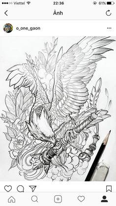 how to draw a smirk Tattoo Design Drawings, Tattoo Sketches, Art Sketches, Tattoo Designs, Body Art Tattoos, Sleeve Tattoos, Phoenix Tattoo Design, Eagle Tattoos, Japanese Tattoo Art