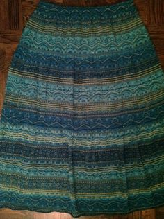 New Chicos Bohemian Gypsy Peacock Maxi Skirt Size M  $24.99  eBay