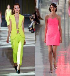 Da sinistra: Costume National ePreen by Thronton Bregazzi primavera-estate 2014