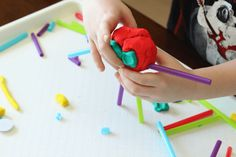 Fine Motor Activity: Cutting Straws and Play Dough Play Dough, Motor Activities, Preschool Art, Straws, Fine Motor Skills, Fun Things, Candles, Times, Create