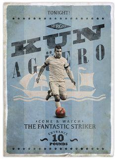 Retro football posters on behance futbola dair herşey. Football Icon, Best Football Team, Retro Football, Football Design, Football Art, World Football, Soccer Art, Soccer Poster, Manchester City Wallpaper