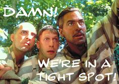 """""""O Brother Where Art Thou"""" movie still, L to R: John Turturro, Tim Blake Nelson, George Clooney. Great Movies, New Movies, Movies To Watch, Awesome Movies, Comedy Movies, George Clooney, Babyface Nelson, Love Movie, Movie Tv"""