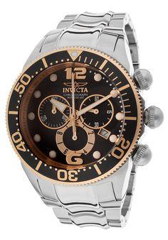 Invicta Men's Lupah Chronograph Stainless Steel Black Dial - Watch 14202,    #Invicta,    #14202,    #WatchesChronographQuartz