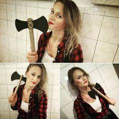 My halloween costume and makeup this year: lumberjack...actually lumberjane! :))) Halloween 2016