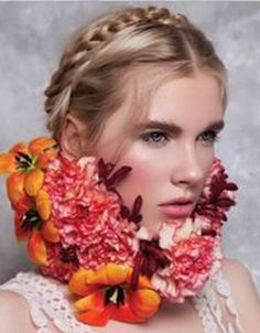 ❀ Flower Maiden Fantasy ❀ beautiful art & fashion photography of women and flowers - flower collar