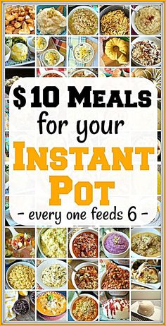 Cheap Instant Pot recipes under 10 each that you will love From dinners to side dishes and pressure cooker desserts too youve got to try a new one each week to see which. Best Instant Pot Recipe, Instant Pot Dinner Recipes, Instant Recipes, Instant Pot Meals, Cheap Instant Pot, Pressure Cooker Desserts, Healthy Pressure Cooker Recipes, Slow Cooker Recipes Cheap, Power Cooker Recipes