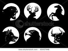 Deer Silhouette Stock Photos, Deer Silhouette Stock Photography, Deer Silhouette Stock Images : Shutterstock.com