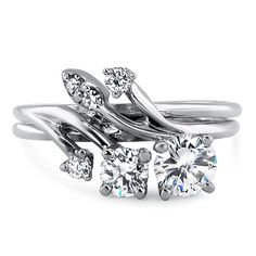 Love this beautiful unique ring! Perfect to represent bringing a family together too! 18K White Gold The Kyla Ring, large top view