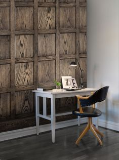 Un papier peint trompe-l'oeil imitation bois, Rebelwalls - Marie Claire Decorative Panels, Trendy Home, Wainscoting, Wall Treatments, Other Rooms, Wall Wallpaper, Wall Murals, Wall Art, Architecture Design