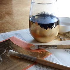 A little glue & gold foil creates a luxe look.