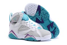 reputable site 36140 b4042 Buy 2016 Nike Air Jordan 7 Retro Gray White Purple Basketball Sneakers Kids  Shoes Online Sales Cheap To Buy from Reliable 2016 Nike Air Jordan 7 Retro  Gray ...