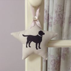 A personal favourite from my Etsy shop https://www.etsy.com/uk/listing/527794617/labrador-cushion-dog-hanging-star-dog