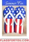 Decorative Flag Patriotic Flip Flops Double Sided By Custom Decor Happy Summer, Summer Fun, Summer Time, Flag Holder, Mailbox Covers, House Flags, Old Glory, Flag Decor