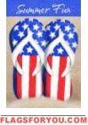 Patriotic Flip Flops Garden Flag