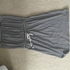 Sundress/beach coverup GAP, size small, black and white sundress. Cinched at the waist with braided cord. Worn once, in excellent condition. GAP Dresses Strapless