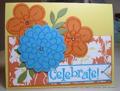 Flower Fest bright card that I made