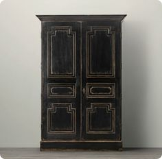 Distressed Black Armoire... thinking of redo-ing my bedroom furniture like this... too darK? hmmmmm decisions decisions.