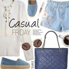 Casual Friday by pokadoll on Polyvore featuring Castañer, Illesteva, polyvoreeditorial, polyvorefashion, polyvoreset and zaful