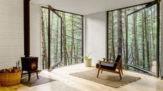Half-Tree House measures 360 square feet and leverages nearby trees for support.