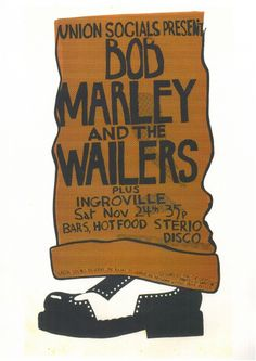 OK Dave, Poster - Manchester Polytechnic Cavendish House, November 1973 - Manchester Digital Music Archive Concert Tickets, Concert Posters, Gig Poster, Bob Marley Concert, Reggae Rasta, Robert Nesta, Nesta Marley, The Wailers, All About Music