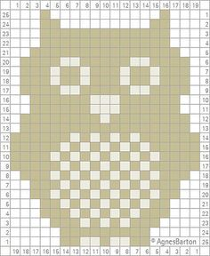 Filet  crochet   owl_crochet_chart-1_medium_zps79dc85e1.jpg 409×500 pixels