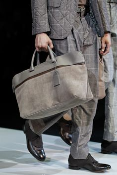 Giorgio Armani's matching SUITS-n-BAGS