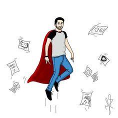 My world, paper city 📝 . . . . . . . #draw #drawing #desenho #desenhando #ilustração #illustration #sketchbook #autodesk #men #heroi #hero #paper #beard #barba #rabiscando