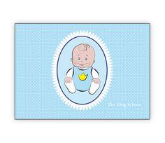 Humorvolle Geburtsanzeige: The King is born - http://www.1agrusskarten.de/shop/humorvolle-geburtsanzeige-the-king-is-born/    00000_1_2359, Eltern, Familie, geboren Neugeborenes, Geburt, gratulieren Großeltern, Grusskarte, Klappkarte Baby00000_1_2359, Eltern, Familie, geboren Neugeborenes, Geburt, gratulieren Großeltern, Grusskarte, Klappkarte Baby