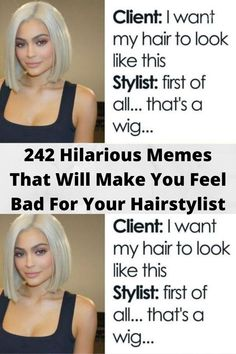 Hair Jokes, Hair Meme, Hair Humor, Hairstylist Memes, Hairdresser Quotes, Funny Memes About Work, Hilarious Memes, California Hair, Mom Hairstyles