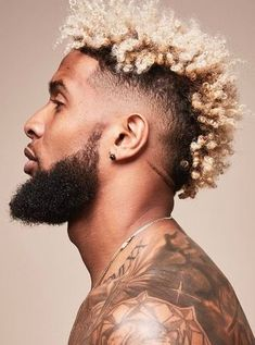 Black Boy Sponge Mohawk Haircuts In 2020 10 Cool Odell Beckham Jr Haircuts the Trend Spotter Black Men Haircuts, Black Men Hairstyles, Cool Haircuts, Hairstyles Haircuts, Funky Hairstyles, Formal Hairstyles, Long Blonde Curls, Blonde High, Loose Curls