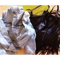 My jacket & my bag