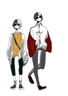Juuzou Suzuya and Ui by Muta —hope you enjoy Juuzou Suzuya, Tokyo Ghoul, Anime, Fan Art, Manga, Stitches, Fictional Characters, Games, Stitching