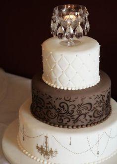 Fondant Chocolate Wedding Cakes ♥ Wedding Cake Design # 805208 – Famous Last Words Beautiful Wedding Cakes, Gorgeous Cakes, Pretty Cakes, Cute Cakes, Amazing Cakes, Chandelier Cake, White Chandelier, Elegant Cakes, Wedding Cake Designs