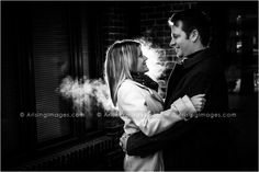 Creative, Cool Lighting Engagement Photos in Michigan with Arising Images.