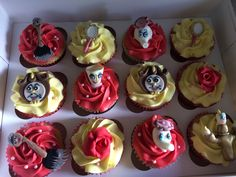 Belle and the Beast cupcakes