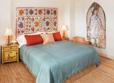 Eclectic Bedroom Design, Pictures, Remodel, Decor and Ideas - page 47 Bedroom Decor, Tapestry Bedroom, Bedroom Interior, Home, Tribeca Loft, Interior, Eclectic Bedroom, Eclectic Loft, Apartment Design
