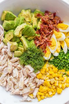 This Avocado Chicken Salad recipe is a keeper! Easy, excellent chicken salad wit… This Avocado Chicken Salad recipe is a keeper! Easy, excellent chicken salad with lemon dressing, plenty of avocado, irresistible bites of. Salad Recipes Video, Chicken Salad Recipes, Healthy Chicken, Diet Recipes, Cooking Recipes, Recipes Dinner, Tuna Recipes, Chicken Meals, Cooking Games