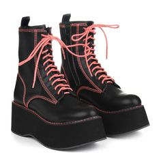 All The Shoes, All The Style & All For Less at Koi Footwear. Keep your shoe game strong and the price tag low! Goth Shoes, Neon Shoes, Heeled Boots, Shoe Boots, Creative Shoes, Aesthetic Shoes, Dream Shoes, Platform Boots, Casual Boots