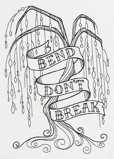 Bend Don't Break | Urban Threads: Unique and Awesome Embroidery Designs