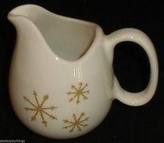 "Royal China STAR GLOW Creamer Vintage Atomic 8 Oz Snowflake 4""FREE US Ship #RoyalChina"