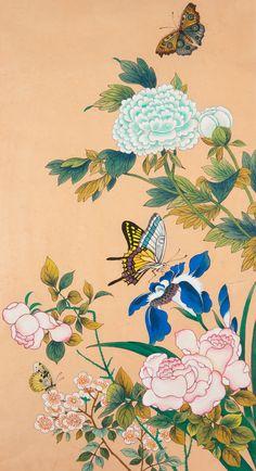 민화 배우기 _ 대가의 호접도 그리기 깨알팁! : 네이버 블로그 Korean Painting, Japanese Painting, Chinese Painting, Chinese Art, Illustration Blume, Mandala Drawing, Korean Art, Botanical Drawings, Traditional Paintings