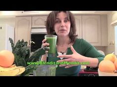 Wake Up Green Smoothie: pears, kale, flax seed, lemon and ginger